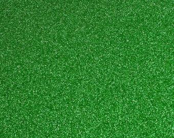 FINE glitter fabric sheet. Green A4 sheet. JR09145