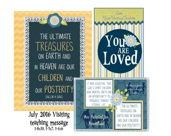 July 2016 Visiting Teaching Message- Our potential for parenthood- Digital download