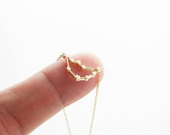 Capricorn Constellation Necklace Zodiac Necklace Capricorn Necklace Zodiac Sign Necklace  Birthday Gift .