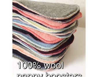 No wash Wool nappy booster / wool nappy liner / wool doubler / wool insert soaker cover / cloth diaper insert /wool diaper insert