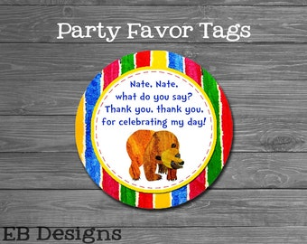 Brown Bear Favor Tags