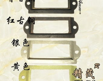 Set of 20 Metal Label Holders,  Card Holders, Metal Label Frames  with Screws  (60MMX24MM) four colors