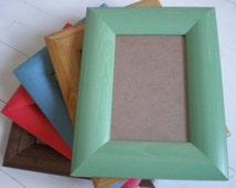"GREEN frame photo frame wood frame 4x6"" solid wood frame Frame picture frame Rustic wall decor solidwoodshop"