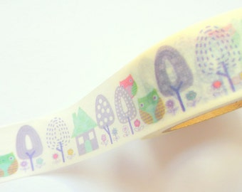 Owls Town Washi Tape 15mm x 10m