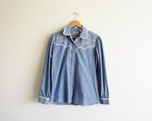 vintage rodeo queen snap shirt