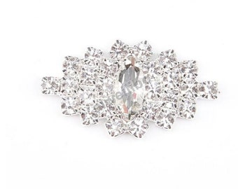 5 pcs Rhinestone Button, crystal button, Embellishment Button