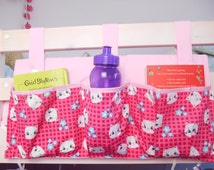 Bed Pockets, Tidy, Girls room, Bunk Bed Bottle Holder, Midi Bed, Tidy, Bed Book Holder, Bed storage Organizer, Cabin Bed,  Bed Tidy Hanger