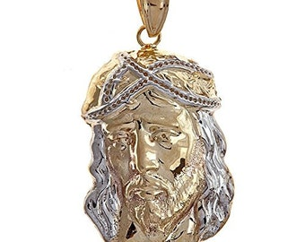 Jesus Head Charm 10K Yellow Gold (MADE IN USA)