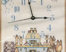 25% OFF Counted Cross Stitch Kit Boarding Time JCA Time Pieces 08409 9x12 Clock Noah's Ark