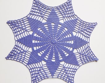 Blue crochet doily