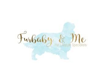 Pet Photography logo - Watercolor Logo - Photography logo - Custom Premade Logo - Dog Logo Watermark- Business Logo  - Blue Watercolor Logo