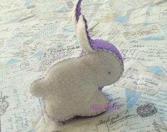 Rabbit soft toy, White Felt Bunny Rabbit Toy, Eco friendly toy, Waldorf toy, Waldorf rabbit, Easter bunny, Easter bunny decor, Easter rabbit