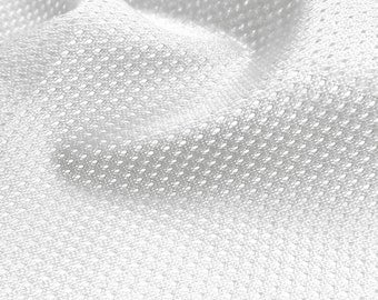 White Micro Mesh Fabric Sports Mesh Athletic Mesh Fabric for Soccer, Basketball Jersey Polyester Mesh Fabric By The Yard [MM]