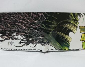 hulk - recycled comic book wallet - slim wallet - hanmade wallet - card holder - thin wallet - vinyl wallet - men's wallet