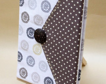 A5 fabric covered notebook, with removable cover.
