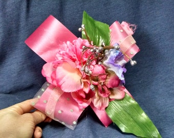Wrist Corsage / Prom Wrist Corsage / Pink Wrist Corsage / Mother Wrist Corsage
