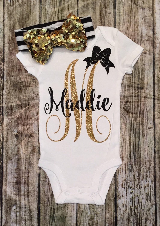 Baby Girl ClothesPersonalized Monogram Bodysuit Monogram