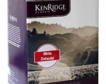 kenridge classic white zinfandel  wine kit 30 bottle homebrew