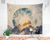 One mountain at a time - Wall tapestry - Beautiful wall hanging - Wanderlust theme - Bohemian decor - Home decor - Wall decor - 3 sizes.