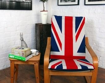 housse pour la chaise poang de chez ikea en simili cuir tissu. Black Bedroom Furniture Sets. Home Design Ideas