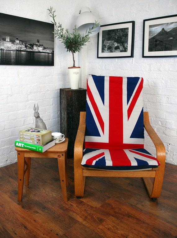 housse pour fauteuil poang en tissu unique union jack. Black Bedroom Furniture Sets. Home Design Ideas