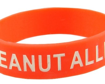 Peanut Allergy   Silicone Medical Bracelet