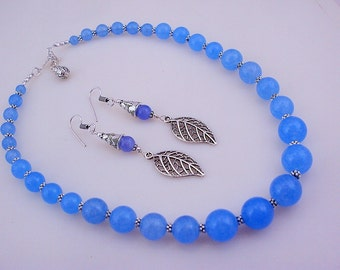 free shipping F-381 Stunning Chalcedony .925 Silver Beaded Handmade Necklace Jewelry 72 Gr.