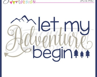 adventure clipart, adventure lettering, baby clipart, newborn clipart, mountains clipart, instant download