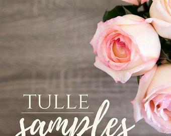 White Tulle Samples