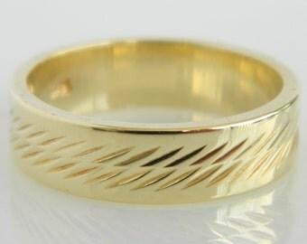 Vintage 14K Gold Wedding Band