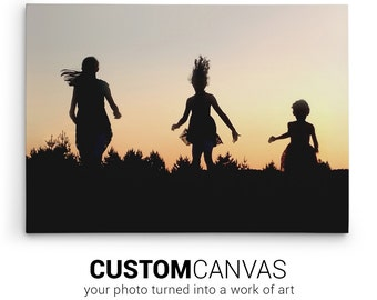 Your Photo on Canvas, Custom Canvas Print, Personalized Gift Idea, Customized Print with Photo & Wording, Photo Gift for Mom, Fast Service