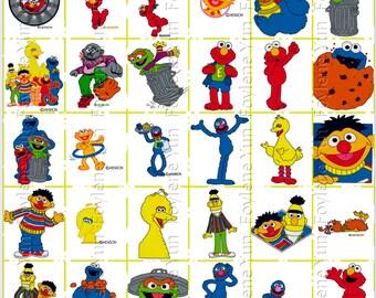 Sesame Street Elmo Cookie Monster Big Bird Ernie Burt Grover Grouch Embroidery Designs Collection