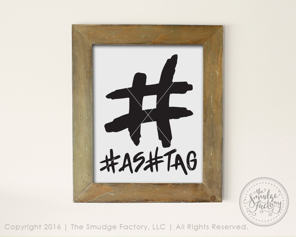 Hashtag printable file hashtag diy wall art print diy for Decor hashtags