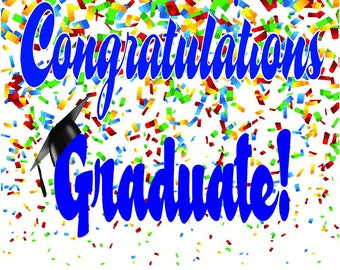 Vinyl 2' x 3' Congratulations Graduate Banner, Vinyl Banner, Congrats Banner