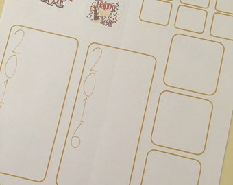NEW YEAR INTENTIONS Paper Planner Stickers!