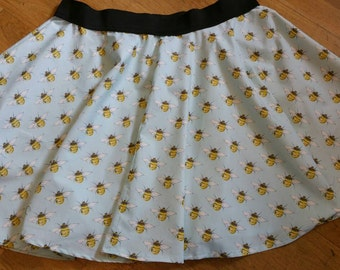 Made To Order Blue Bee Circle Skirt
