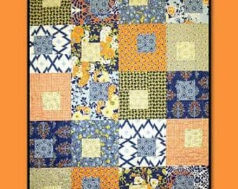 Summer Song Quilt Pattern By Pat Fryer from Villa Rosa Designs Fat Quarter friendly finished quilt is 46 by 58 inches
