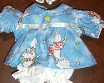 """NEW 14"""" Preemie Cabbage Patch Doll Clothes~3 pc. Angels/Girls Dress/Panties/Headband"""