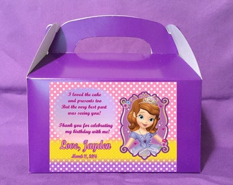 Personalized Sofia The First Treat Boxes