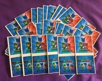 10 PJ Masks Sticker Sheets (2 stickers per sheet) Party favors