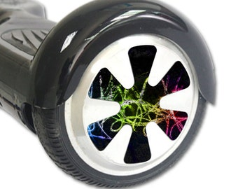 Skin Decal Wrap for Hoverboard Balance Board Scooter Wheels Neon