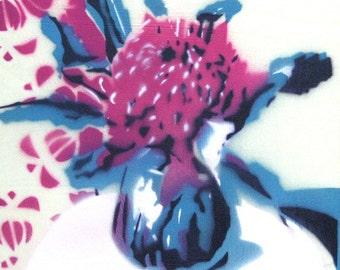 Waratah stencil 6/60