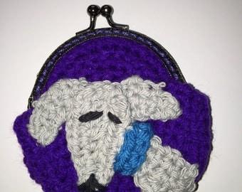 Greyhound coin purse, purple