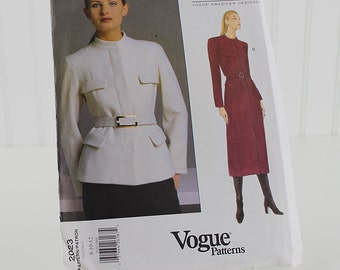 Vogue Jacket Pattern, Donna Karan, UNCUT Sewing Pattern, V2023, Size 8-12