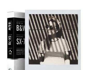 The Impossible Project SX-70 B&W 2.0 Black and White film SX70 Polaroid Cameras