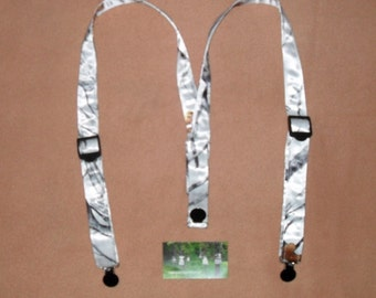 Kids Suspenders.Made with White SnowFall TrueTimber Camo.Great for Weddings,Easter or anytime.Choose size from the select options below.