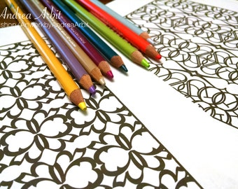 Pattern Coloring Pack #2 - 6 PDF Pages