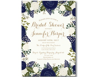 Vintage Bridal Shower Invitation, Fall Wedding, Vintage Floral, Floral Wedding, Vintage Wedding, Bridal Shower Invitation, Shower #CL128