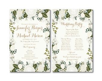 PRINTABLE Wedding Program, Ceremony Program, Order of Service Program, Wedding Party Program, Ceremony Order of Service #CL120