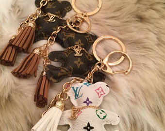 Teddy Bear Louis Vuitton Keychain / purse adornment